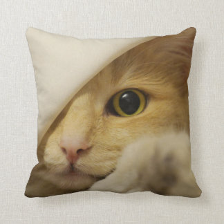 MEOW! Cat playing peekabo-PILLOW Throw Pillow