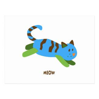 Meow Cat Postcard