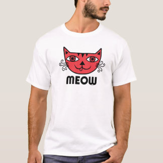 Meow Cat red T-Shirt