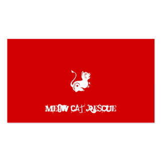 MEOW Cat Rescue Business Card