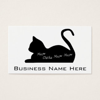 Meow Chicka Meow Meow Business Card