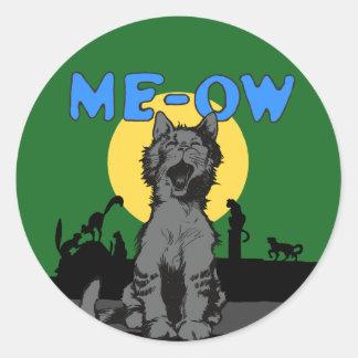 Meow Classic Round Sticker