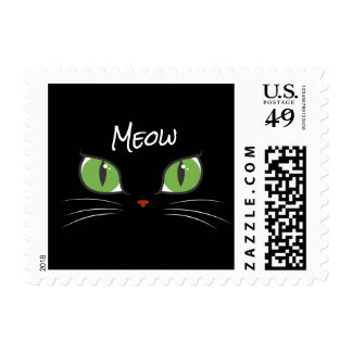Meow Cute Cat Eyes Pet Party Event Custom Postage