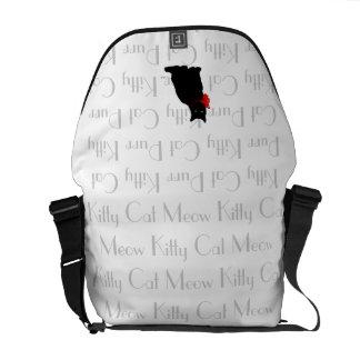 Meow Designer Black Cat Bag Courier Bags
