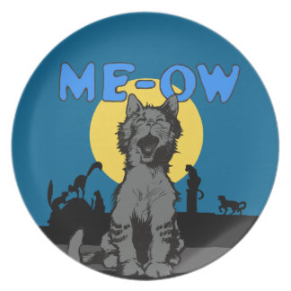 Meow Dinner Plate