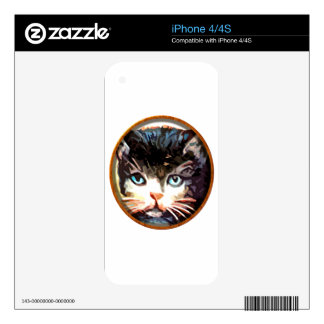 Meow Face Skins For iPhone 4