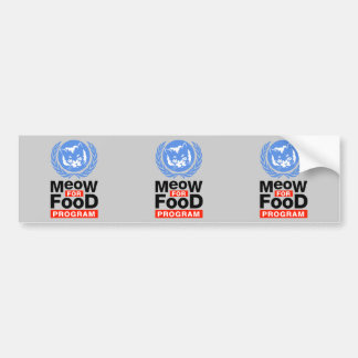 Meow For Food Programs Bumper Sticker