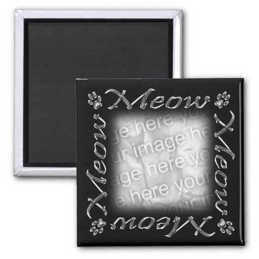 Meow Frame 2 Inch Square Magnet
