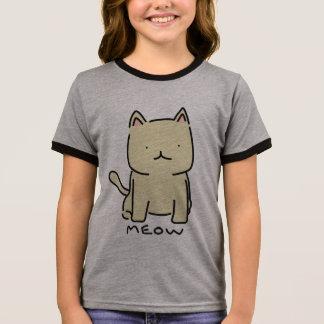 Meow Girl's Ringer T-Shirt
