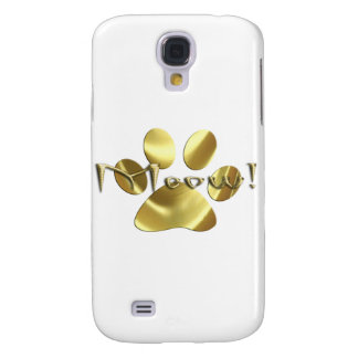 Meow Gold Cat Paw Print! Samsung Galaxy S4 Cover