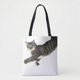 meow! grab me! tote bag