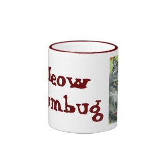 Meow Humbug Ringer Coffee Mug