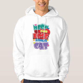 Meow If You Love A Rescued Cat Hoodies