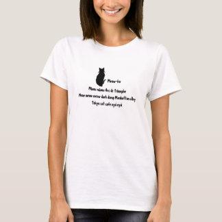 Meow in Translation: A Meow-ku Tee Shirt