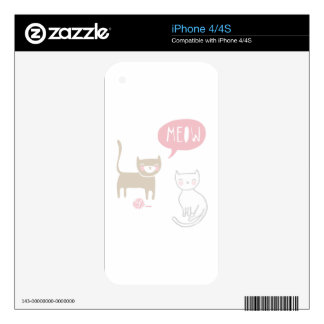 Meow Kitties Skin For The iPhone 4S