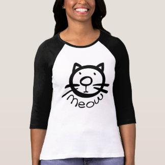 meow kitty cat Women's Bella 3/4 Sleeve Raglan Tee