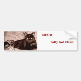 Meow! Kitty Got Claws!                      ... Bumper Sticker