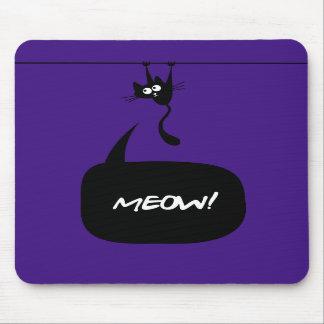 meow kitty purple 2 mousepad