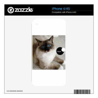 meow-Lily jpg Skins For iPhone 4S