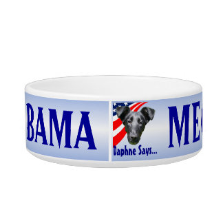 Meow Means Obama Cat Bowl