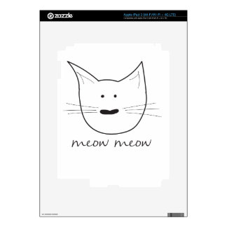Meow Meow Decals For iPad 3