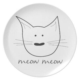 Meow Meow Melamine Plate
