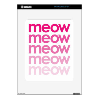 meow meow meow meow decal for iPad
