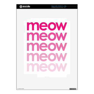 meow meow meow meow skins for the iPad 2