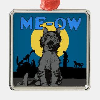 Meow Metal Ornament