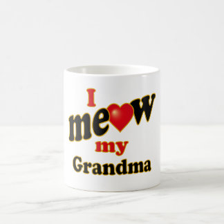 Meow mi abuela taza de café