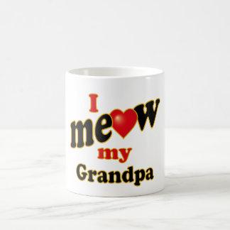 Meow mi abuelo taza de café