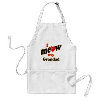 Meow mi Grandad Delantal