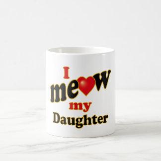 Meow mi hija taza básica blanca