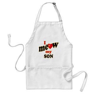 Meow mi hijo delantal
