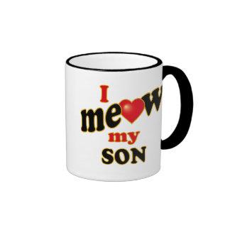 Meow mi hijo taza de dos colores