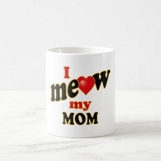 Meow mi mamá taza clásica