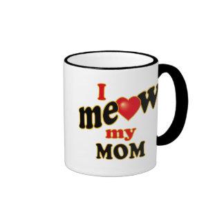 Meow mi mamá taza de dos colores