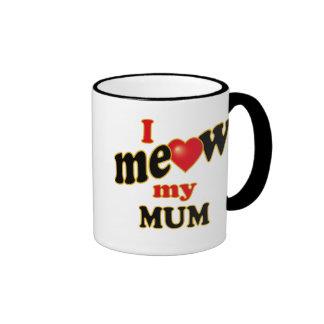 Meow mi momia taza de dos colores