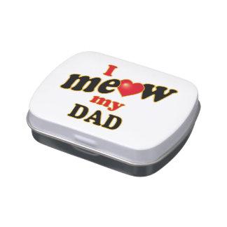 Meow mi papá jarrones de dulces