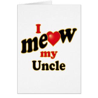 Meow mi tío tarjeta de felicitación