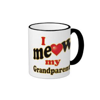 Meow mis abuelos taza a dos colores