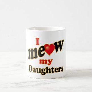 Meow mis hijas taza básica blanca