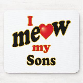 Meow mis hijos tapetes de raton