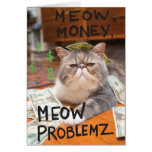 Meow Money, Meow Problemz Greeting Cards