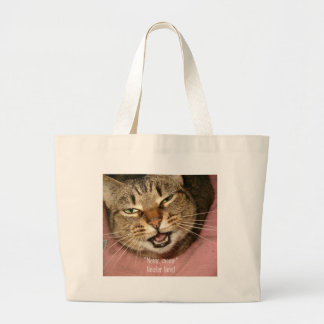 Meow neuter now! large tote bag