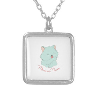 Meow Or Never Square Pendant Necklace