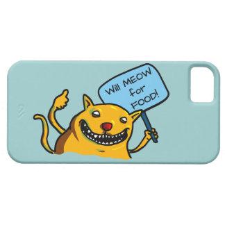 ¡MEOW para la COMIDA! iPhone 5 Funda