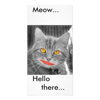 Meow Personalized Photo Card