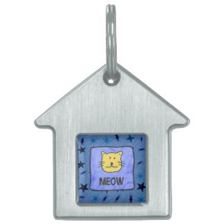 MEOW PET NAME TAG