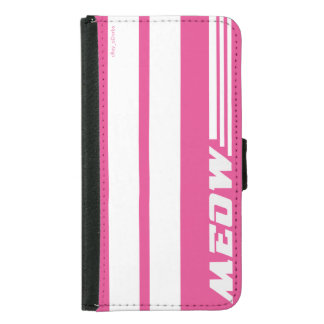 Meow pink race stripe phone cover